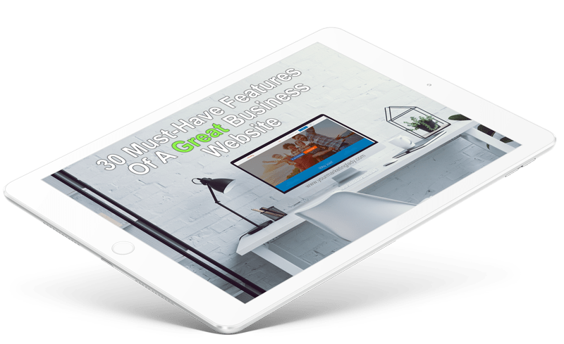 features of a small business website ipad